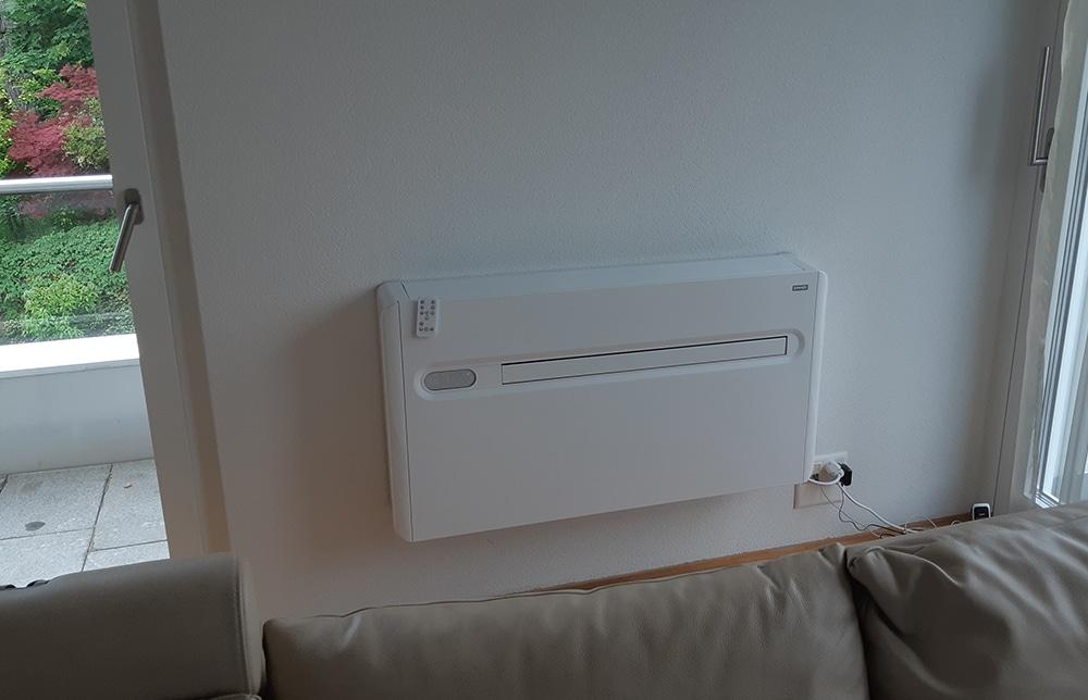 Klimagerät x-one im Wohnzimmer
