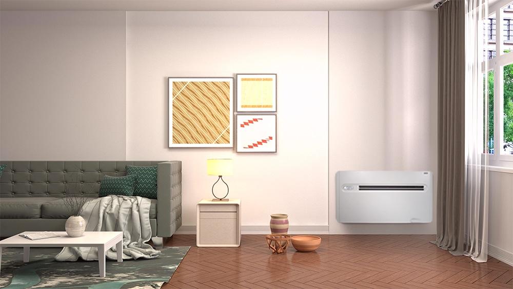 X-One Kloimageraet im Wohnzimmer installiert